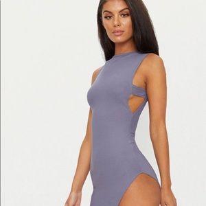 Grey Cut Out PrettyLittleThing Dress